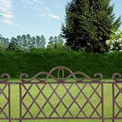 Garden Fence Lawn Edging Checker Design