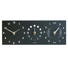 Eco Recycled Moon, Tide and Time Clock
