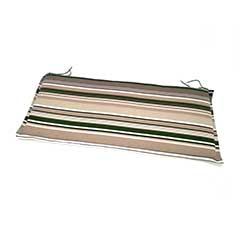Ellister 2 Seater Bench Cushion - Green Stripe 110cm