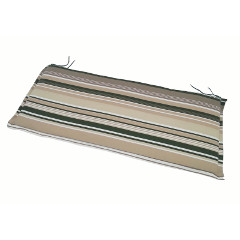 Greenfingers 3 Seater Bench Cushion - Green Stripe 140cm