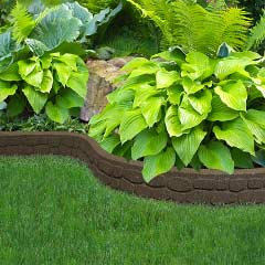 Recycled Rubber Edging - Flexi Curve Rockwall 1.22m