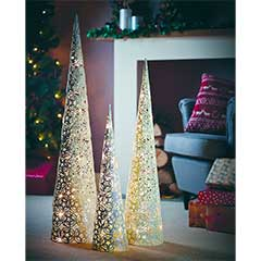 Gardman Pre-lit Festive Cone Tree