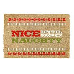 Gardman Nice Until Proven Naughty Coir Doormat - 60 x 40cm