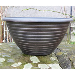 Striation Bowl Planter - 12In