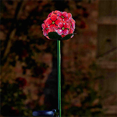 Pink Bloom Solar Flowers - 2 Pack
