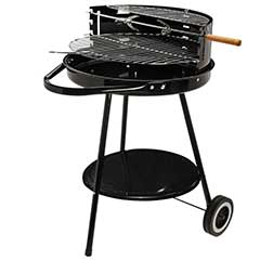 Round Wheeled Charcoal BBQ - 70cm Height