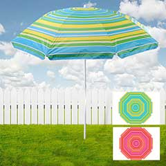 Portofino Striped Beach Umbrella - 176cm Diameter