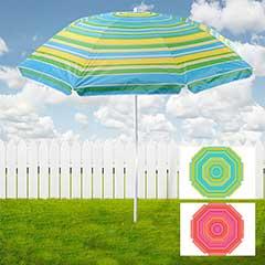 Portofino Striped Beach Umbrella - 176cm Diameter