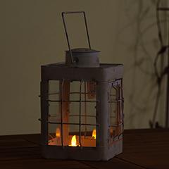 Verdigris Metal Lantern - 24cm Height