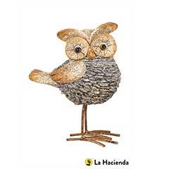 La Hacienda Stone Effect Owl - 19cm Height