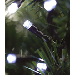Kingfisher 100 LED White Solar String Lights
