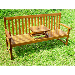 Greenfingers Acacia Pop Up Bench - W166 x D59 x H90cm