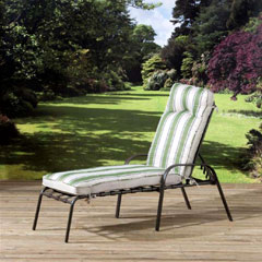 Pagoda Naples Cushioned Steel Sun Lounger