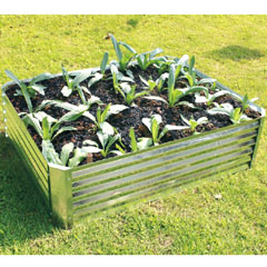 Hansons Galvanised Raised Garden Bed 120 x 90 x 30cm
