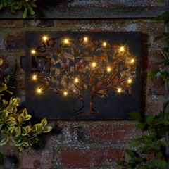 Silhouette Tree wall art with 12 LED lights