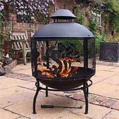 Gardeco Toluca Round Fireplace - 91cm Height