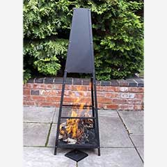 Gardeco Copan Pyramid Fireplace - 143cm Height