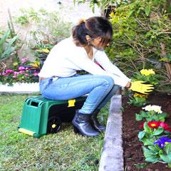 Seat N Kneel 3-in-1 Garden Kneeler with Seat and Storage