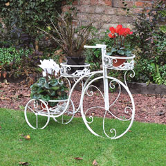 Four Seasons Cream Vintage Bicycle Planter