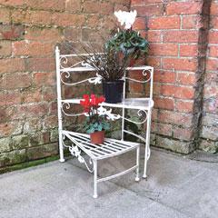 Four Seasons 3 Tier Cream Vintage Stair Planter