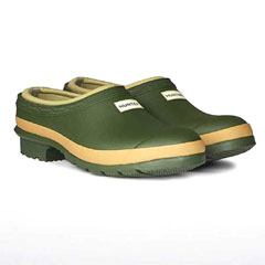 Hunter Gardener Clogs - Womens Vintage Green Size 3