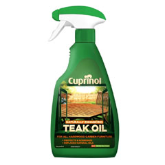 Cuprinol Natural Enhancing Teak Oil Spray Clear 500ml