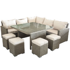 Ellister 5 Seater Rattan Corner Sofa Set