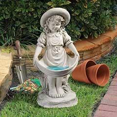 Design Toscano Beatrices Bountiful Skirt Little Girl Garden Statue - 53cm Height