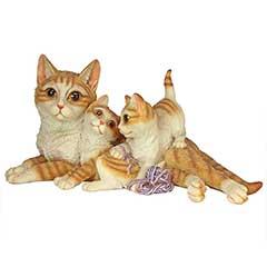 Design Toscano Kitten Crowd Garden Statue - 28cm Width