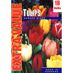 Taylors Autumn Bulbs Tulip Garden Mixed Extra Value Pack - 18 bulbs