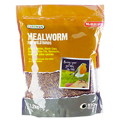 Mealworm For Wild Birds - 1.2kg Pouch