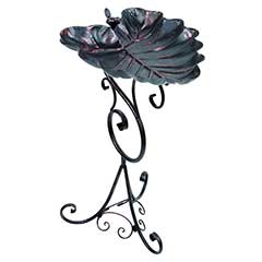 Decorative Leaf Bird Bath - 62cm Height