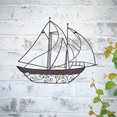 La Hacienda Billowing Sails Wall Art - 45cm Height
