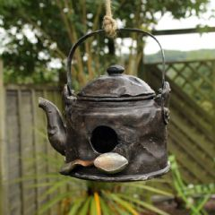 Polyresin Kettle Bird House
