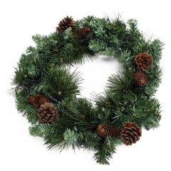 Kingfisher Christmas Wreath with LEDs - 45cm Diameter