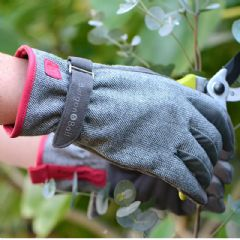 Burgon and Ball Grey Tweed Gardening Gloves