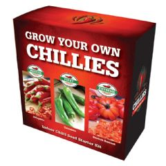 Grow Your Own Chilli Kit - Jalapeno, Cayenne, Scotch Bonnet
