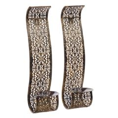 Cole and Bright Arabian Wall Sconces 36cm Height - 2 Pack