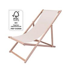 Greenfingers Cream Canvas Deck Chair