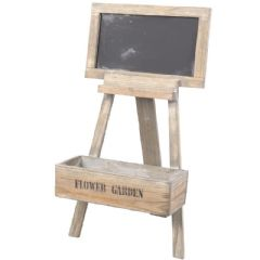 Ellister Easel Style Wooden Planter with Chalkboard