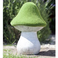 La Hacienda Flocked Effect Toadstool - 30cm Height