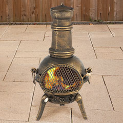 Embers Cast Iron Chiminea Bronze