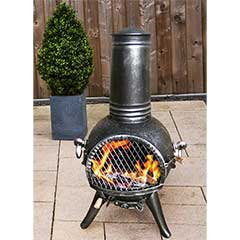 Greenfingers Kensingston Cast Iron Chiminea with Grill