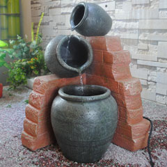 Greenfingers Three Cascading Barrels Water Feature