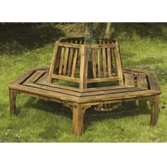 Greenfingers 360� Wooden Tree Seat