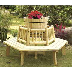 Greenfingers Wooden Tree Seat 163cm Diameter
