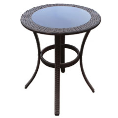 Greenfingers Moncafa Rattan 60cm Round Table