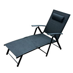 Ellister Siena 3 Position Sun Lounger - Black