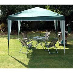 Greenfingers Foldable Pop Up Gazebo 3 x 3m  - Green