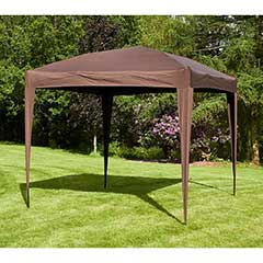 Ellister Premier Foldable Pop Up Gazebo  3 x 3 M -  Mocha